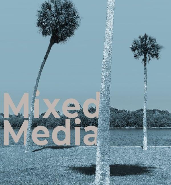 Palm Trees - Mixed Media